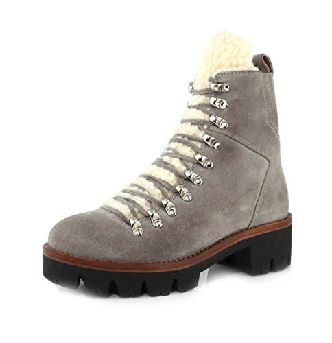 Jeffrey Campbell Womens Culvert Taupe Suede Ivory Boot - 8