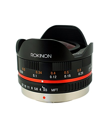 Rokinon FE75MFT-B 7.5mm F3.5 UMC Fisheye Lens for Micro Four Thirds (Olympus PEN and Panasonic), Black