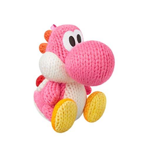 Pink Yarn Yoshi Amiibo (Yoshi's Woolly World Series)
