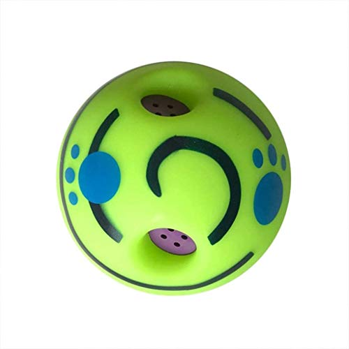SJHP Pet Dogs Cats Playing Ball Wobble Wag Giggle Chewing Ball Puppy Training Ball with Funny Vocal Balt Pet Toy Supplies Training