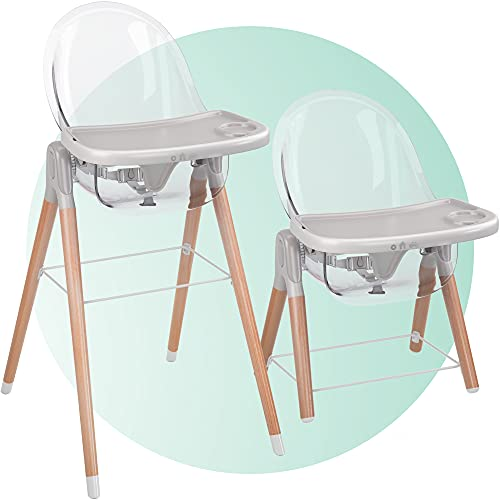 Children of Design 6 in 1 Deluxe High Chair for Babies & Toddlers, Modern Safe & Compact Baby Highchair, Easy to Clean, Removable Tray, Easy to Assemble, 6 Options 3 Seat Positions 2 Heights 1 Chair