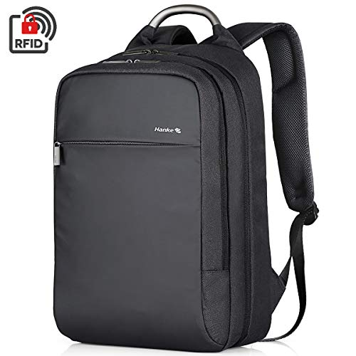 Hanke Backpack Carry On Backpack Slim Travel Laptop Backpack for Men, Anti-theft Shool Bookbag