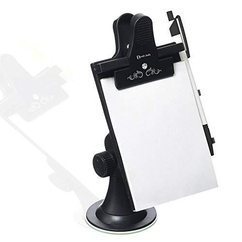Zento Deals Car Note Pad/Memo Pad/Clip Board (Universal Suction, Flexible Neck Mount)