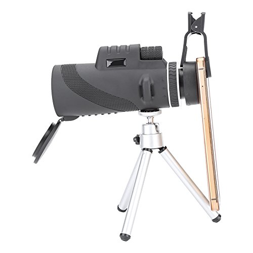 Dilwe Monocular Telescopes, Waterproof High Power Birding Monocular Scopes for Hunting,Hiking,Camping,Travel,Concert and More with Steady Tripod and Phone Adapter