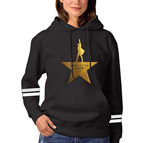 Men Women Sweatshirt Hoodie Hamilton Drama Fashion Long Sleeve T-Shirt Large Black