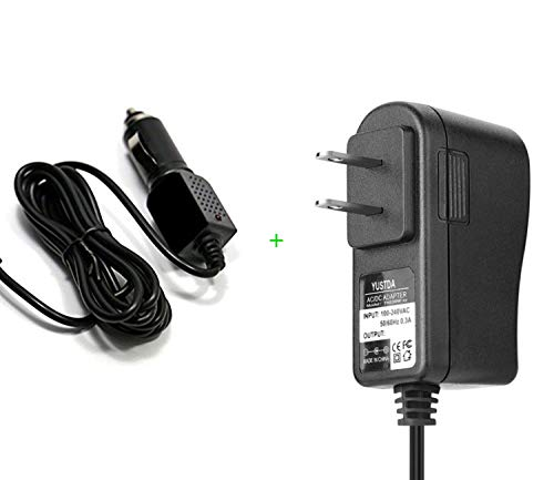 Yustda Micro Home/Wall & CAR Charger for Magellan RoadMate 9465T-LMB/9412T-LM/9400-LM Power Supply Cord Cable PS Charger Mains PSU