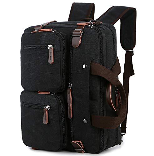 BAOSHA Convertible Briefcase Backpack 17 Inch Laptop Bag Case Business Briefcase HB-22 (Black-Grey Mixed)