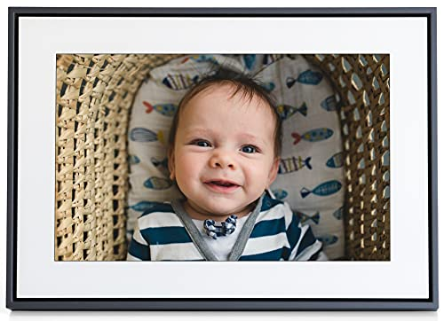 Loop WiFi Digital Picture Frame, Text Message Photos to Frame, 10 inch HD Touchscreen, Easy to use iPhone App to Invite and Connect The Whole Family