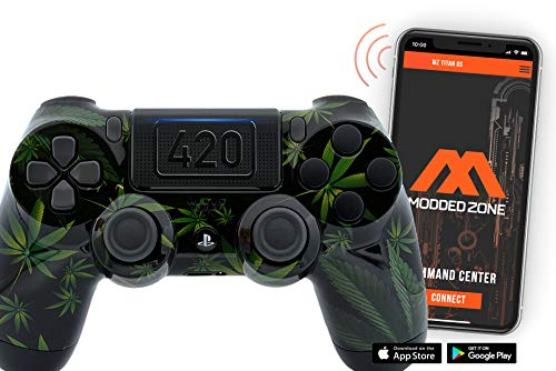 Smart 420 Black PS4 PRO Modded Controller for Rapid Fire FPS MOD Pack Custom Modded Controller for All Major Shooter Games Warzone & More (CUH-ZCT2U)