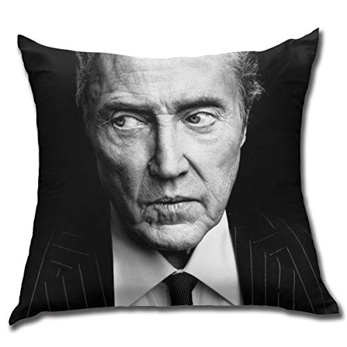 JAMIEFOWLERgggg Home Bedroom Decorative Square Christopher Walken Throw Pillow Covers 18 X 18 Inch