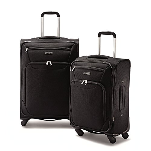 Samsonite 2 Piece Expandable Spinner Luggage Set (Black)