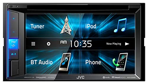 JVC KW-V250BT Multimedia Receiver Featuring 6.2' WVGA Clear Resistive Touch Monitor/Bluetooth / 13-Band EQ