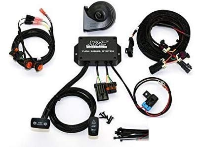 Pioneer 700/1000 Plug & Play Turn Signal System with Horn (Switch Direction Vertical- OPT-TURN-VERT) By XTC power products TSS-HON1000
