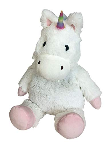 Intelex Warmies Microwavable French Lavender Scented Plush Unicorn, White