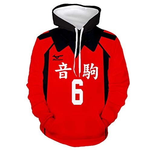 Nekoma Chief Spiker Fukunaga Hoodie 8 Asian 2XL