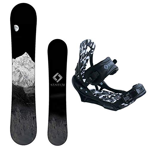 System MTN Snowboard with APX Bindings Men's Snowboard Package 153 cm