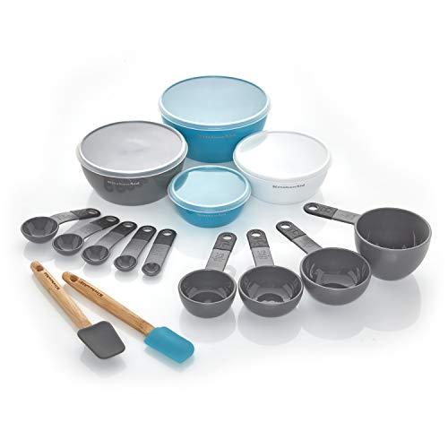 KitchenAid Prep and Measure Kitchen Tool Set, 15-Piece, Charcoal Gray