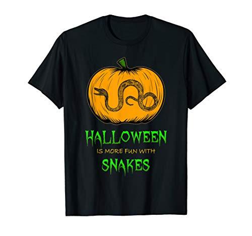 Snake Halloween Pumpkin T-Shirt