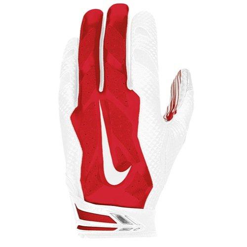 Nike Vapor Jet 3.0 Receiver Gloves (White/Red, Small)