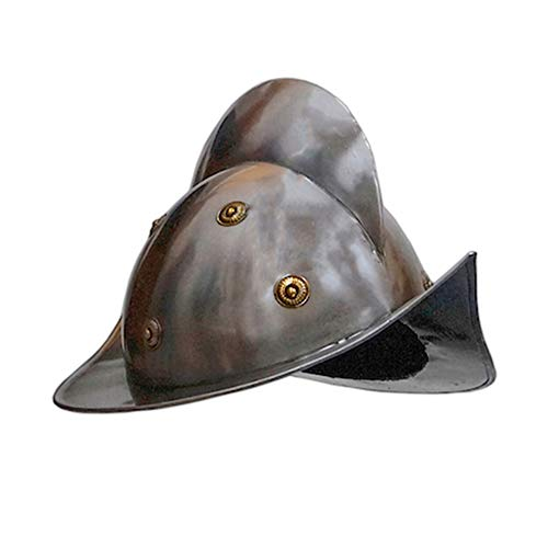 Spanish Morion Medieval Helmet One Size Authentic Replica Collection Pieces Fits Most (Armored Helmet)