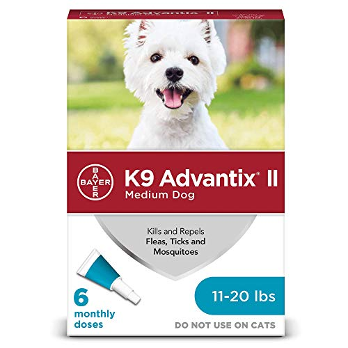 K9 Advantix II Flea and Tick Prevention for Medium Dogs 6-Pack, 11-20 Pounds