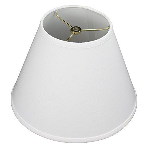 FenchelShades.com 6' Top Diameter x 12' Bottom Diameter x 9' Slant Height Fabric Barrel Lampshade Spider Attachment (Linen White)