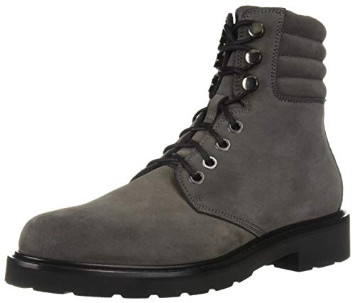 Aquatalia Men's Heath Suede Hiking Boot, Dark Charcoal, 9 M US