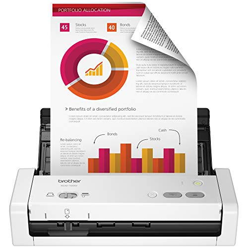 Brother Easy-to-Use Compact Desktop Scanner, ADS-1200, Fast Scan Speeds, Ideal for Home, Home Office or On-The-Go Professionals