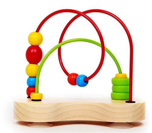 Award Winning Hape Double Bubble Wooden Bead Maze Multicolor, L: 3.5, W: 8.5, H: 7.6 inch