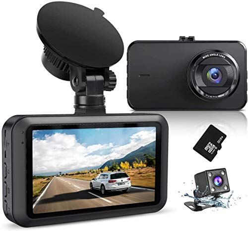 Dash Camera for Cars Front Recorder with SD Card SSONTONG Full HD 1080P 3 Inch Screen DVR Dashboard Camera 170° Wide Angle HDR Low Light Night Vision Parking G-Sensor Loop Recording Motion Detection