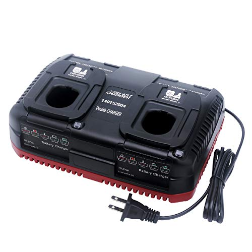 Biswaye 19.2V C3 Battery Dual Port Charger Compatible with Craftsman C3 19.2-Volt XCP Lithium-Ion Ni-Cad NiMh Compact Battery 130279005 315.PP2011 130279017 315.PP2025 315.PP2030