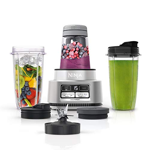 Ninja SS101 Foodi Power Nutri Duo Smoothie Bowl Maker and Personal Blender 1200WP smartTORQUE 4 Auto-iQ Presets One base, multi-functions
