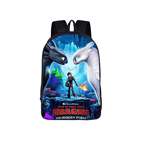 Dragon Backpack Hiccup Bag Night Fury Toothless Cosplay SchoolBag for Boys Girls