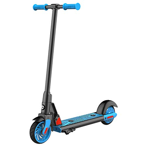 GOTRAX GKS Electric Scooter, Kick-Start Boost and Gravity Sensor Kids Electric Scooter, 6' Wheels UL Certificated E Scooter for Kids Age of 6-12 (Blue)