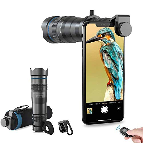 Apexel High Power 28x HD Phone Telephoto Lens with Remote Shutter Works with iPhone X/XR Samsung Pixel Android Any Smartphones