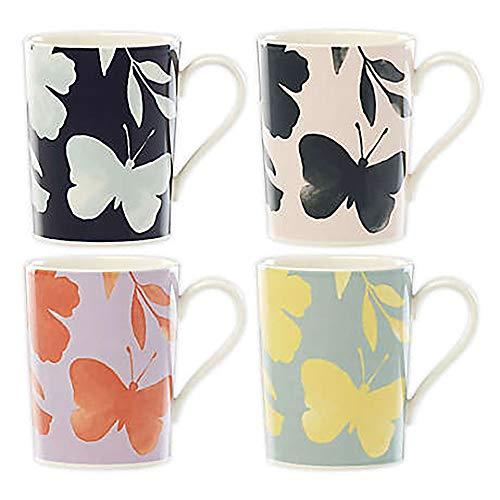 KATE SPADE Petal Lane Flower 4-Piece Mug Set, 2.75 LB, Multi