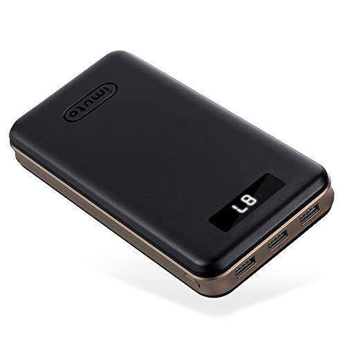 Portable Charger 30000mAh imuto Power Bank X6 USB External Battery Pack Android Cell Phone 3-Port 3.4A Output Fast Charging Compatible with iPhone 12 Pro Max, 11, Samsung S10, iPad, Nintendo Switch