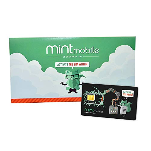 $20/Month Mint Mobile Wireless Plan | 10GB of 5G • 4G LTE Data + Unlimited Talk & Text for 3 Months (3-in-1 GSM SIM Card)