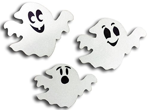 COOLHUBCAPS Reflective Ghosts Car Magnets