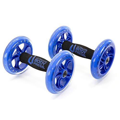Ultimate Body Press Chest and Ab Wheel Rollers with Independent Ball Bearing Wheels for Fast Upper Body and Abdominal Results