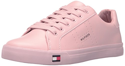 Tommy Hilfiger Women's Luster Sneaker, Pink, 8.5