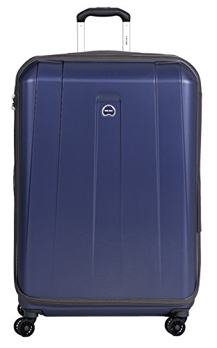 Delsey Paris Helium Shadow Hardside Luggage Expandable Spinner Trolley Collection (Checked-Large 29 Inch, Navy Blue)