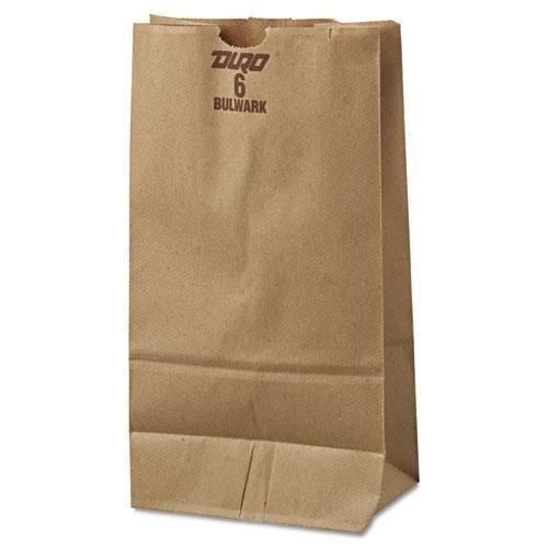BAG GX6500 6# Paper Bag, 50lb Kraft, Brown, 6 x 3 5/8 x 11 1/16, 500/Pack