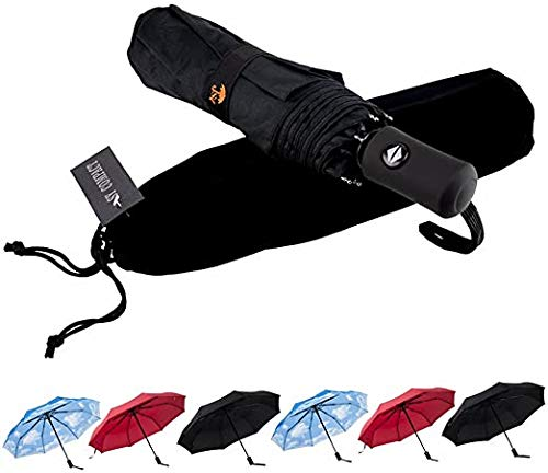 SY Compact Travel Umbrella Auto Open Close Windproof LightWeight Unbreakable Umbrellas