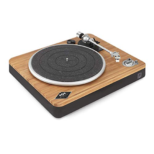 House of Marley Stir It Up Wireless Turntable: Vinyl Record Player with Wireless Bluetooth Connectivity, 2 Speed Belt, Built-in Pre-Amp, and Sustainable Materials