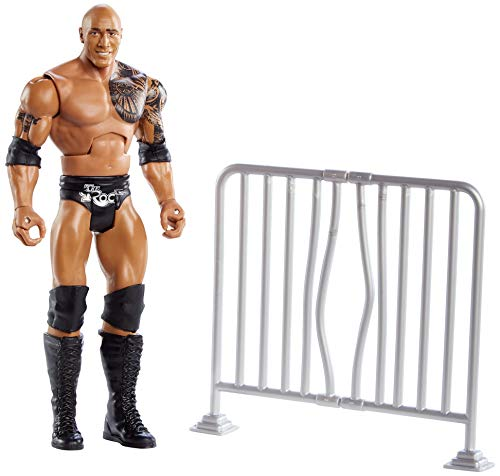 WWE Wrekkin' The Rock 6-inch Action Figure with Pull-Back Activated Move Like Slamming, Punching or Kicking, Lock Tight Grip & Wreckable Accessory