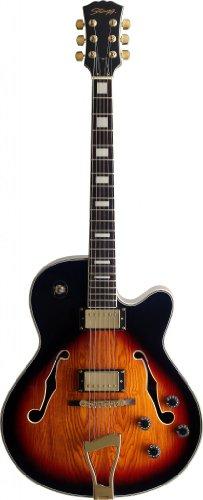 Stagg A300 Jazz Semi-Acoustic Electric Guitar - Violinburst