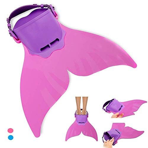 Adjustable Mermaid Swim Fin for Swimming Training Girl ,Boys ,Kids ,Children by AIWANK