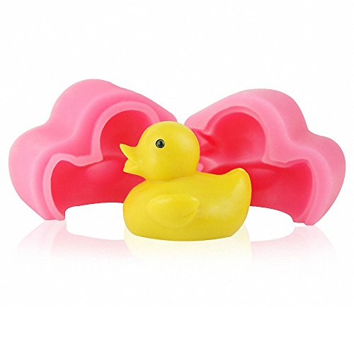 MoldFun 3D Small Size Rubber Duck Silicone Mold for Handmade Soap, Bath Bomb, Lotion Bar,Chocolate, Candy, Fondant, Cake Decorating, Wax Candle, Crayon Melt