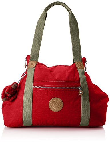 Kipling Art M, Medium Travel Tote, 58 cm, 26 liters, Red (True Red C)